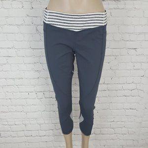 Lululemon Vintage Wet Dry Warm Crop Gray Stripe 12